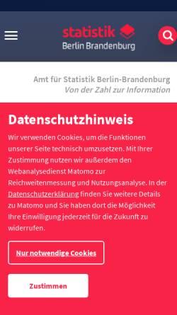 Vorschau der mobilen Webseite www.statistik-berlin-brandenburg.de, Amt für Statistik Berlin-Brandenburg