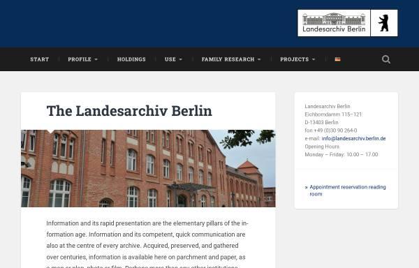 Vorschau von www.landesarchiv-berlin.de, Landesarchiv Berlin