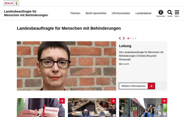 Vorschau von www.berlin.de, Landesbeauftragter für Behinderte