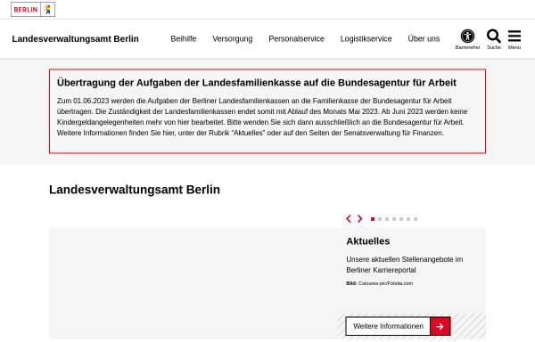 Vorschau von www.berlin.de, Landesverwaltungsamt Berlin