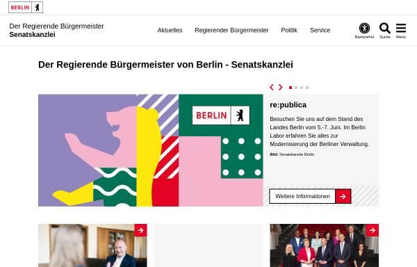Vorschau von www.berlin.de, Der Regierende Bürgermeister
