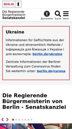 Vorschau der mobilen Webseite www.berlin.de, Der Regierende Bürgermeister