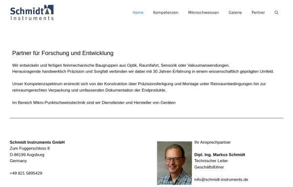 Vorschau von www.schmidt-instruments.de, Schmidt Instruments, Inh. Dipl.-Ing. Markus Schmidt