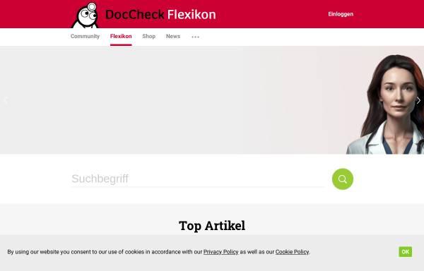 Vorschau von flexikon.doccheck.com, DocCheck Flexikon
