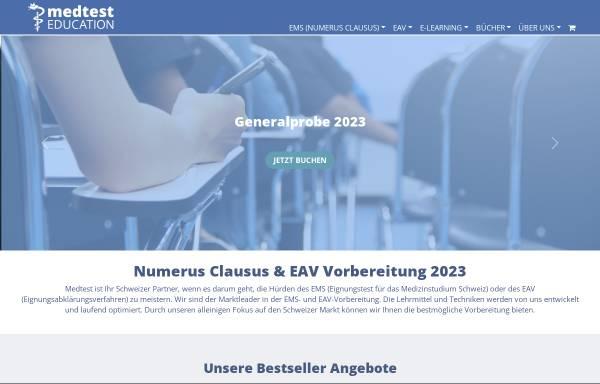 Vorschau von www.eignungstest.ch, Eignungstest für das Medizinstudium in der Schweiz (EMS)