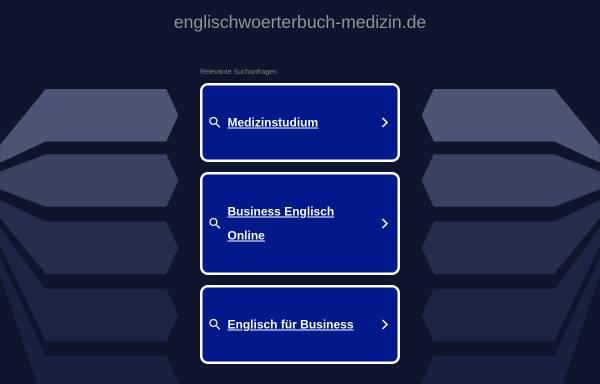 Vorschau von www.englischwoerterbuch-medizin.de, Medizin-Wörterbuch Deutsch-Englisch/Englisch-Deutsch