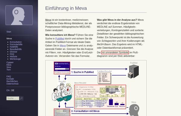 Vorschau von www.med-ai.com, Meva: MedLine Evaluator