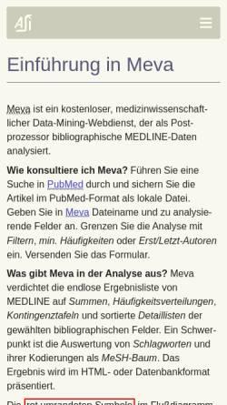 Vorschau der mobilen Webseite www.med-ai.com, Meva: MedLine Evaluator
