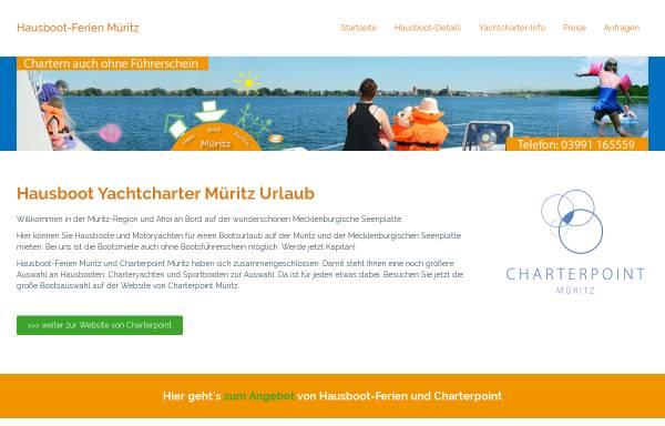 Vorschau von www.hausbootferien-mueritz.de, Hausbootferien NEREIDE