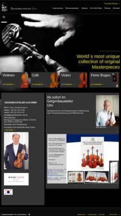 Vorschau der mobilen Webseite www.geigenbauatelier-ulm.de, Geigenbauatelier Ulm