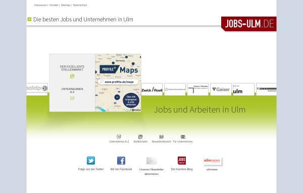 Vorschau von www.jobs-ulm.de, Jobs-Ulm, Ulrich Guntram Palm e. K.