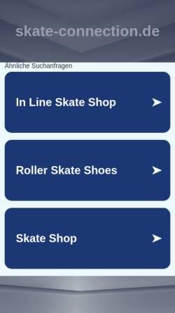 Vorschau der mobilen Webseite skate-connection.de, Fitness- und Speedskating in Bremen - Skate-Connection Bremen e.V.