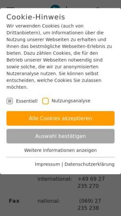 Vorschau der mobilen Webseite www.rsv-gera.de, RSV Blau-Weiß Gera e.V.