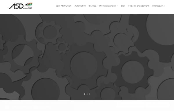 Vorschau von www.asd-gmbh.info, ASD GmbH - Automatisation-Service-Dienstleistungen