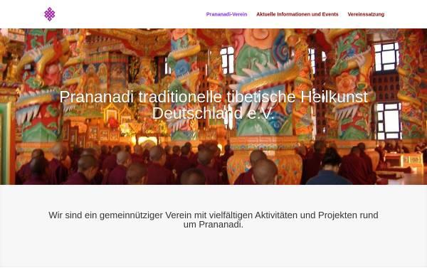 Vorschau von www.prananadi-verein.de, Prananadi - Traditionelles Tibetisches Heilwissen