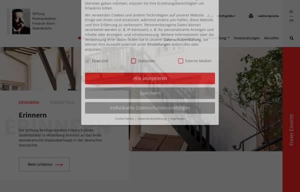 Vorschau von www.ebert-gedenkstaette.de, Ebert, Friedrich (1871-1925)