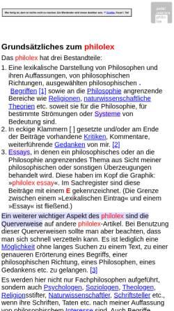 Vorschau der mobilen Webseite www.p-moeller.de, Peter Möller - PhiloLex