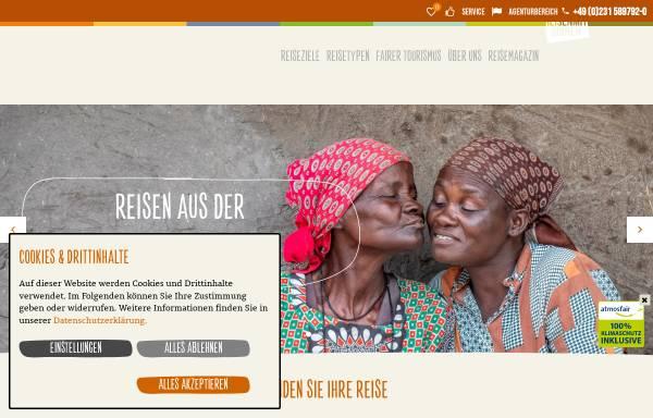 Vorschau von www.reisenmitsinnen.de, ONE WORLD Reisen mit Sinnen