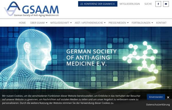 Vorschau von gsaam.de, Deutsche Gesellschaft für Anti-Aging-Medizin