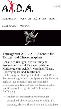 aida vorschau der mobilen webseite wwwaida dancede aida - Aida Bewerbung