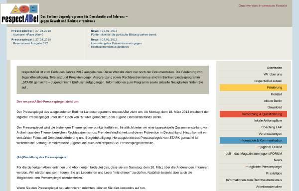 Vorschau von www.respectabel.de, respectABel