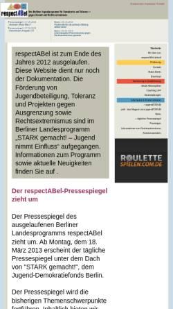 Vorschau der mobilen Webseite www.respectabel.de, respectABel