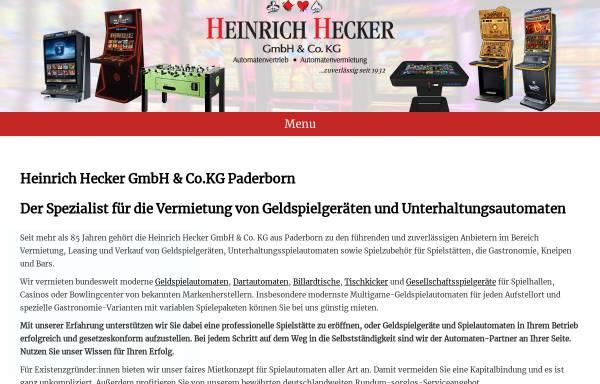 Vorschau von www.heinrich-hecker.de, Heinrich Hecker AG & Co. Kommanditgesellschaft