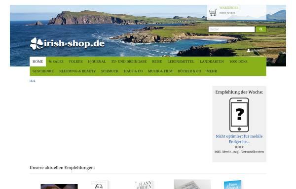 Vorschau von www.irish-shop.de, Irish-Shop, Christian Ludwig und Thorsten Blum
