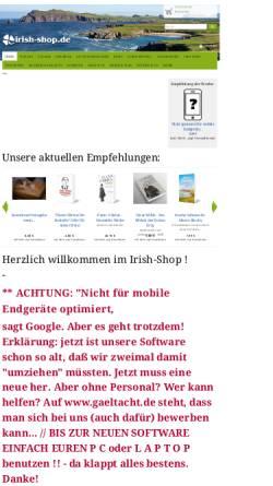 Vorschau der mobilen Webseite www.irish-shop.de, Irish-Shop, Christian Ludwig und Thorsten Blum
