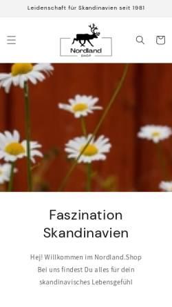 Vorschau der mobilen Webseite www.nordland-shop.com, Nordland-Shop, Angelika Haardiek