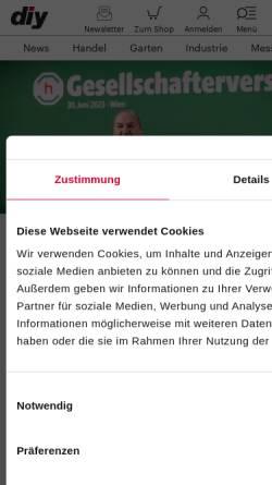 Vorschau der mobilen Webseite www.diyonline.de, DIYonline
