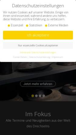 Vorschau der mobilen Webseite www.drechslermagazin.net, Das Drechslermagazin