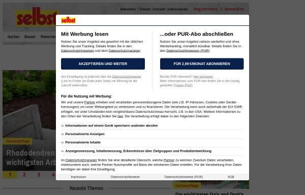 Vorschau von www.selbst.de, selbst ist der Mann