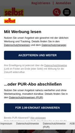 Vorschau der mobilen Webseite www.selbst.de, selbst ist der Mann
