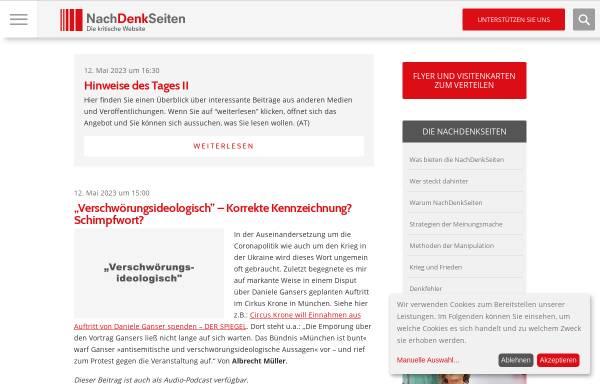 Vorschau von www.nachdenkseiten.de, NachDenkSeiten - das kritische Tagebuch