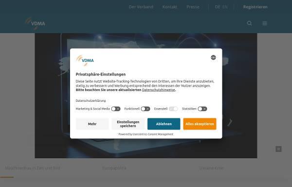 Vorschau von www.vdma.org, Verband deutscher Maschinen- und Anlagenbau e.V. (VDMA)