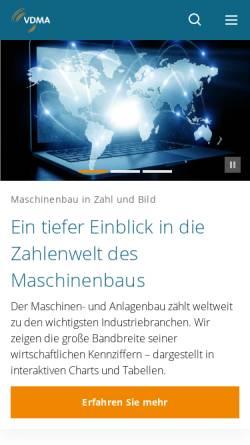 Vorschau der mobilen Webseite www.vdma.org, Verband deutscher Maschinen- und Anlagenbau e.V. (VDMA)