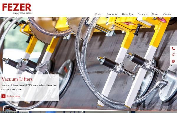 Vorschau von fezer.com, Albert Fezer Maschinenfabrik GmbH