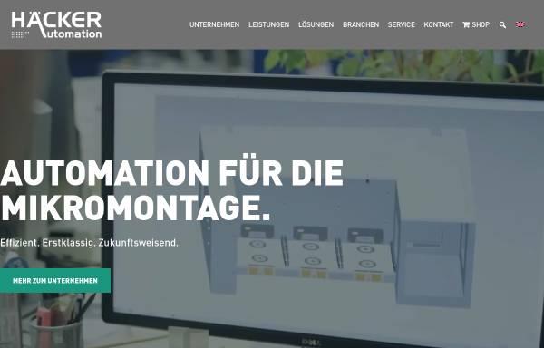 Vorschau von www.haecker-automation.de, Häcker Automation GmbH