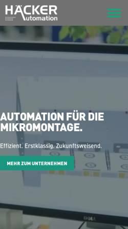 Vorschau der mobilen Webseite www.haecker-automation.de, Häcker Automation GmbH