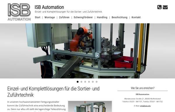 Vorschau von www.isb.info, ISB Automatisierung