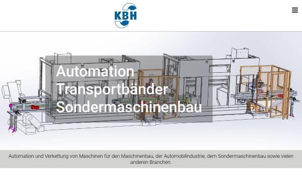 Vorschau von www.kbh-maschinenbau.de, KBH Produktions-Automation GmbH & Co. Vertriebs-KG