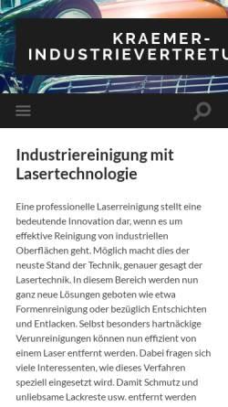 Vorschau der mobilen Webseite www.kraemer-industrievertretung.de, Walter Krämer Industrievertretung
