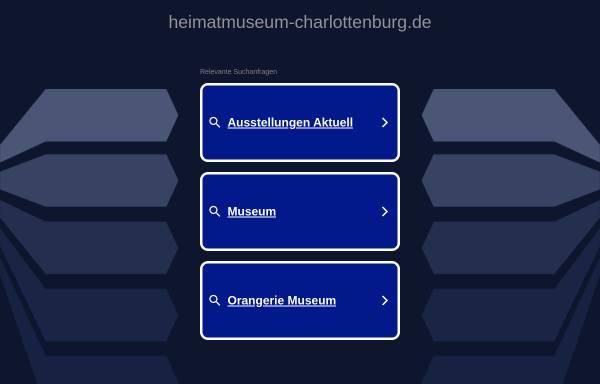 Vorschau von www.heimatmuseum-charlottenburg.de, Heimatmuseum Charlottenburg-Wilmersdorf