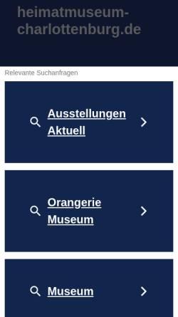Vorschau der mobilen Webseite www.heimatmuseum-charlottenburg.de, Heimatmuseum Charlottenburg-Wilmersdorf