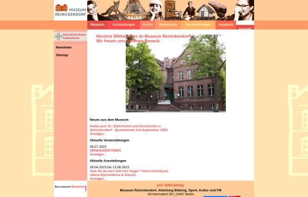 Vorschau von www.heimatmuseum-reinickendorf.de, Heimatmuseum Reinickendorf