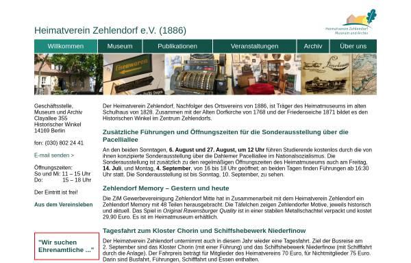 Vorschau von www.heimatmuseum-zehlendorf.de, Heimatmuseum Zehlendorf