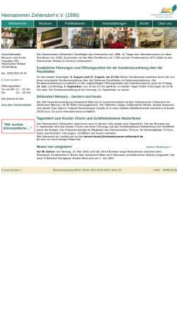 Vorschau der mobilen Webseite www.heimatmuseum-zehlendorf.de, Heimatmuseum Zehlendorf