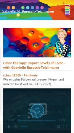 Vorschau der mobilen Webseite www.color-buresch.at, Gabrielle Buresch-Teichmann