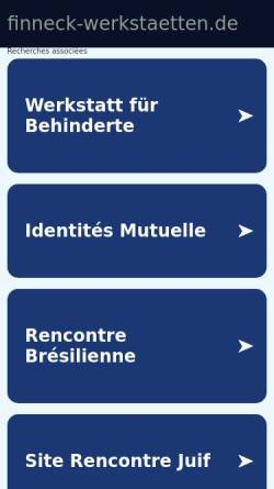 Vorschau der mobilen Webseite www.finneck-werkstaetten.de, Finneck-Werkstätten